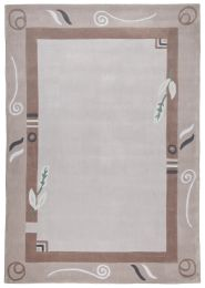 Covor Floral Pyro, Acril, Taupe, 60x90 - C50-105502