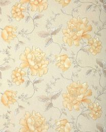 Tapet crem floral in relief 748-30