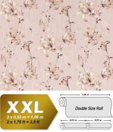 Tapet roz model floral in relief 978-33